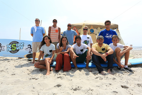 RESURF program participants and boards donated on 8/8/2013.  Members of Long Beach High School Surf Team participated in this worthwhile event.