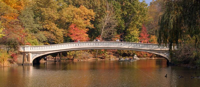 Bow Bridge. Central Park, Manhattan, New York City in the fall.