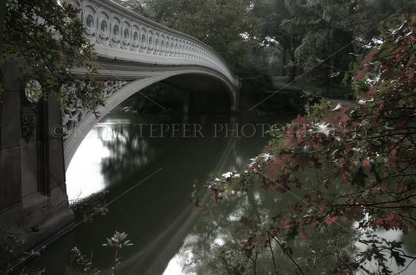 Bow Bridge. Central Park, Manhattan, New York City in the winter