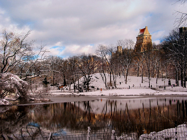 Central Park, Manhattan, New York City in the winter