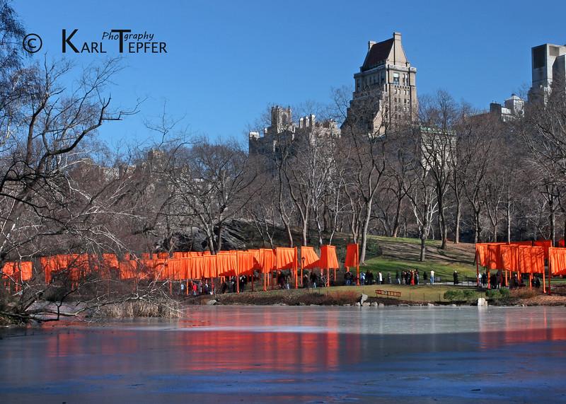 The Gates. February 2005, Central Park, New York City.