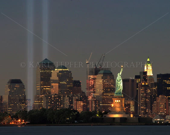 """""""There is nothing wrong with America that the faith, love of freedom, intelligence and energy of her citizens cannot cure. """" Dwight D. Eisenhower (1890 - 1969)   Tribute in Lights   © 2005 Karl Tepfer"""
