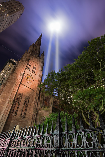 Trinity Church and Light Tribute  9/11/2014