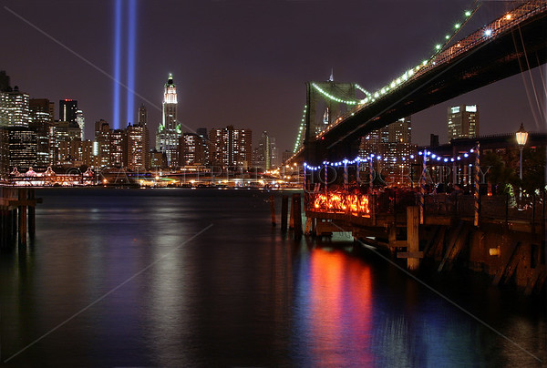 March 11th, 2002   Exactly 6 months since that tragic day. FIrst time Tribute in Lights appeared