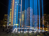 The Rising: 44 light beams representng the South Tower of the World Trade Center