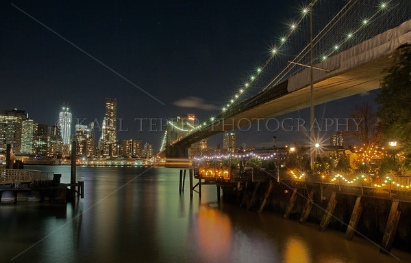 The River Cafe, nestled under the Brooklyn Bridge. Magical location for a meal and vista of lower and midtown Manhattan