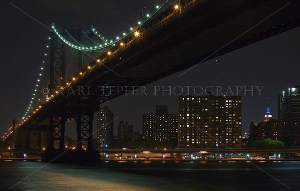 Manhattan Bridge, taken the night of September 11th, 2007.