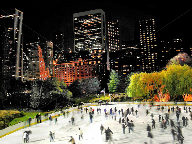 Skaters at Wollman Rink