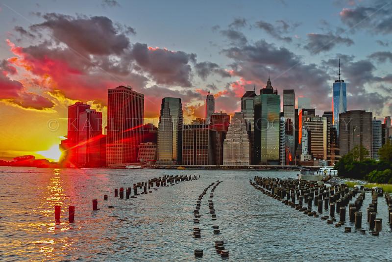 Dusk in Lower Manhattan: 9/11/15