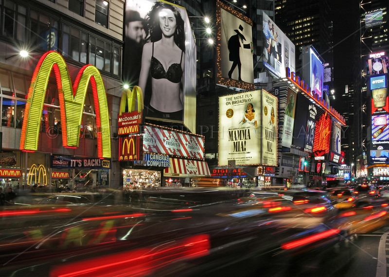 Times Square at night.  The city that never sleeps.