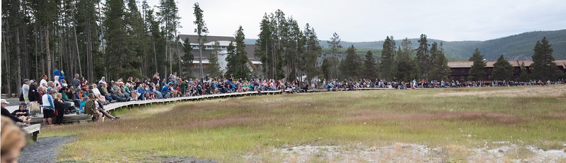People at Old Faithful