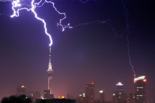 Summer Storm Over Auckland