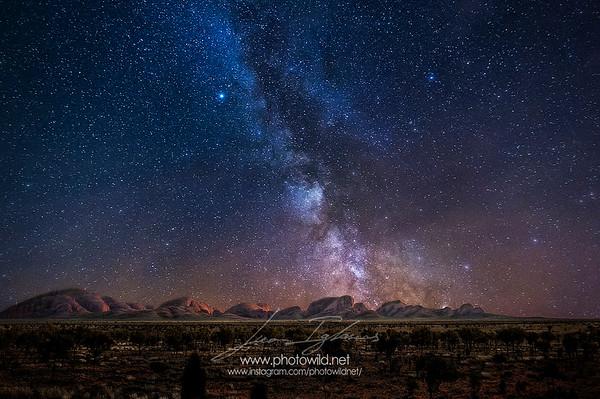 Olgas (Kata Tjuta) Milky way