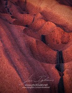 Uluru waterfalls