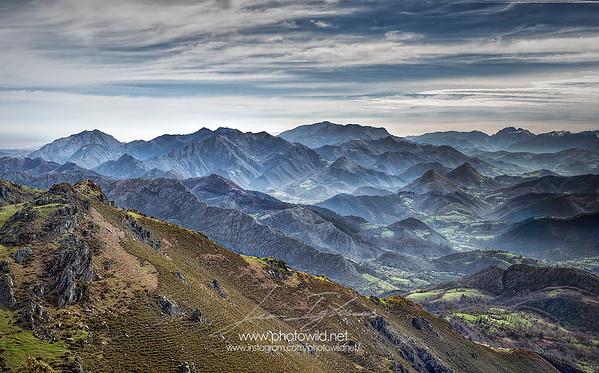 Picos de Europa view from Sierra del Sueve