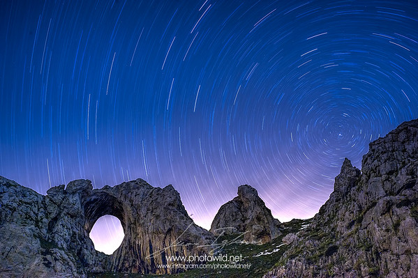 Stars trails in Peña Mea