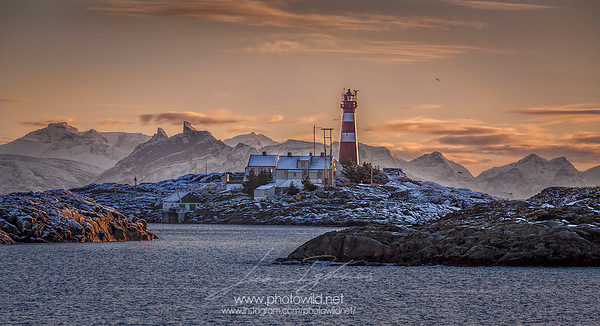 Skrova lighthouse, Lofoten Islands.