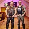 """Markus """"Brux"""" Bruckner (l.) und Präsident Robert """"Miedschi"""" Miedinger vom Harley Club HDC Erlauf."""