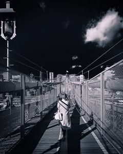 Walking on the Brooklyn Bridge