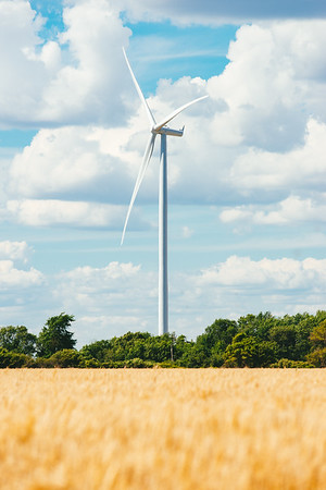 The Wind Turbine by the Field