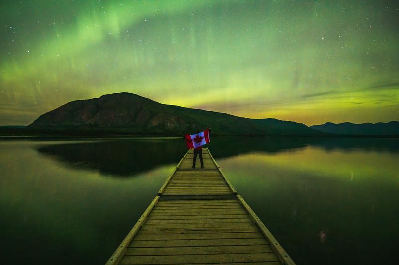 Aurora Borealis at Pine Lake