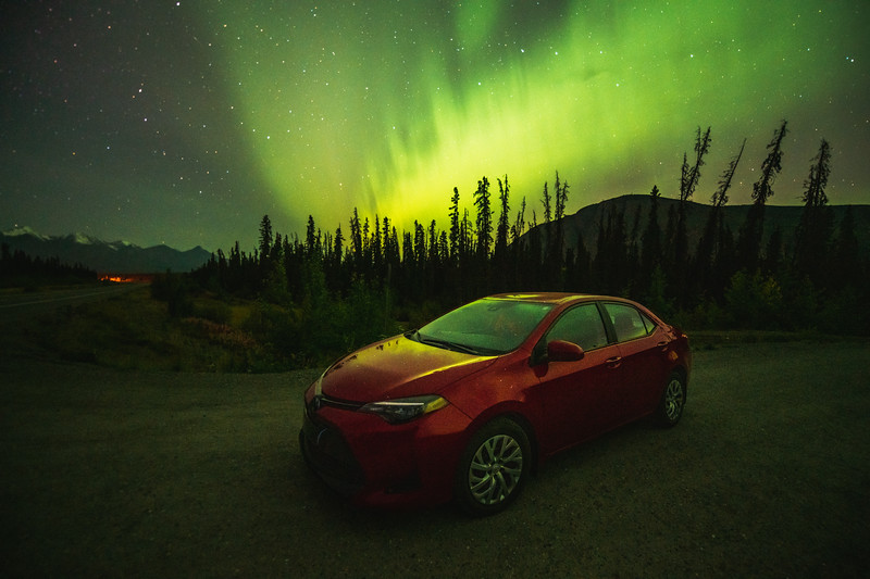 Corolla Under the Aurora Borealis