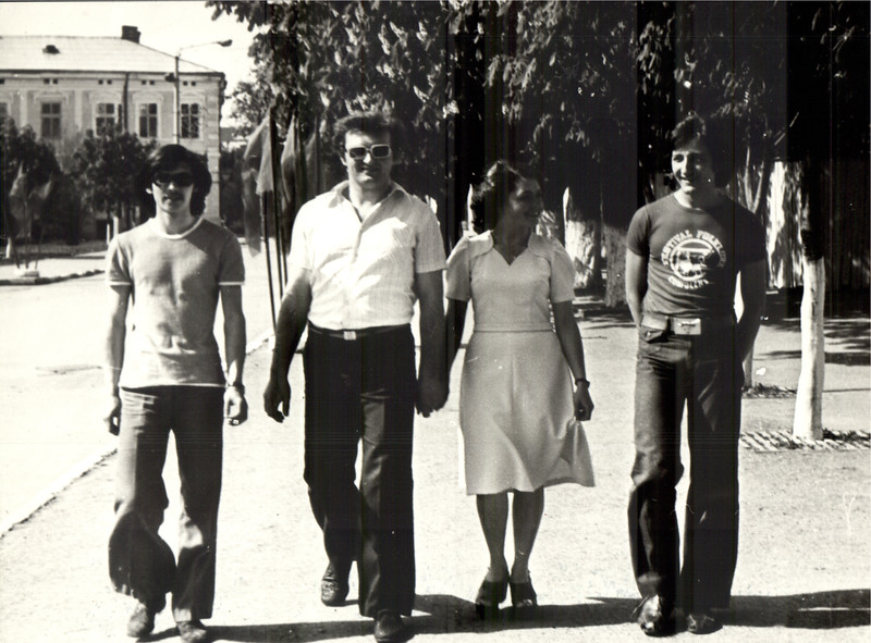 Сергій Карпов, Володимир Кабачій, Орися Кабачій (Штокалюк), Василь Лопух. Літо 1977.