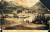 Початок будівництва тимчасового дерев'яного моста. (на звороті фотографії є підпис, зображення 10)