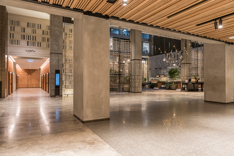 North lift lobby and atrium