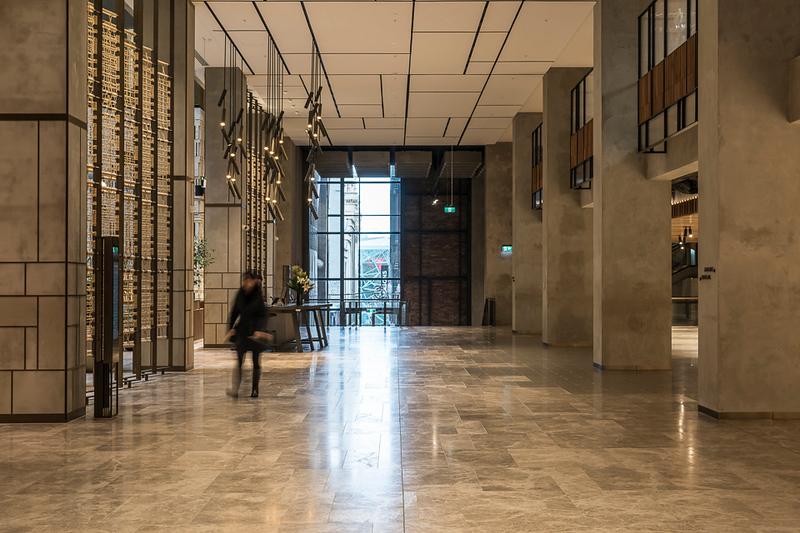 Main lobby looking towards the rear entrance
