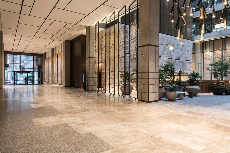 Main lobby looking towards the Collins Street entrance and atrium