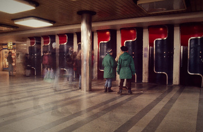 Prague Metro Mustek Phone Booths