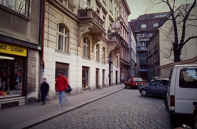 Prague. The Baleno Cafe