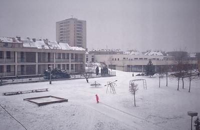 Prague Skalka. Snow