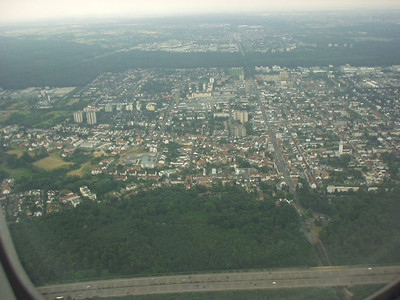 On approach to Frankfurt / Main in Germany.