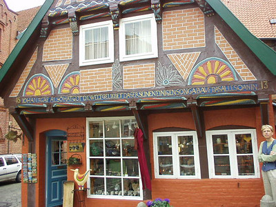 The oldest building in Lauenburg.  Over 500 years old!