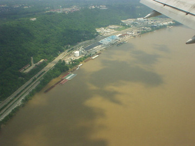 Passing over the mighty Ohio River on approach.  We worked in Ohio, but stayed in a hotel on the Kentucky side.