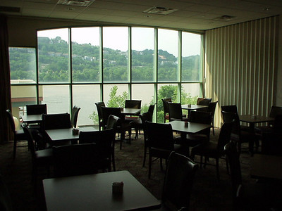 We stayed on the Kentucky side of the river.  This is the view out of the breakfast room of our hotel.