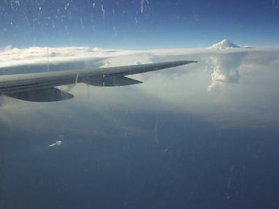 Thunderheads from 36 thousand feet.