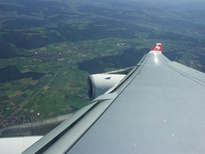 Above Switzerland.