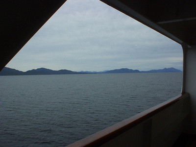 Underway in Canadian waters en route to our first stop, Ketchikan.