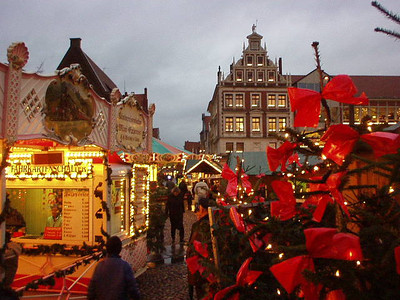 Lueneburg, Germany The Christmas market.