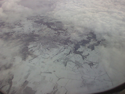 Above Germany - snow!