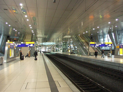 Frankfurt high speed train station.