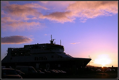 Dublin, Ireland Sunrise, waiting for the ferry to Hollyhead