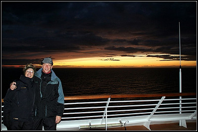 Crossing the Arctic circle, en route to Akureyri, Iceland