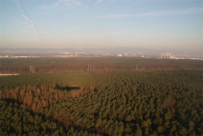 Over theFrankfurt area.
