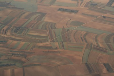 Agricultural patchwork in winter.