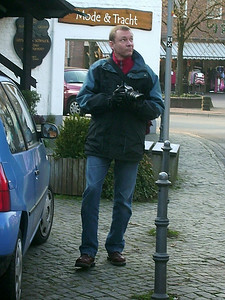 Yours truly, as seen by my cousin, Marion. Here, were in Brueggen, Germany for the day.