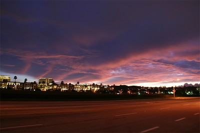Wide angle of the horizon, Irvine.